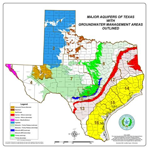 texas aquifer map water districts images