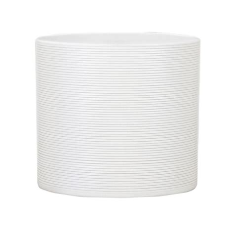 10 in dia panna white ceramic pot 53658 the home depot