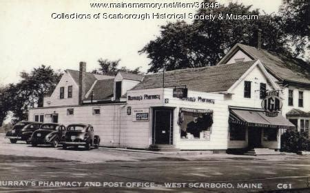 Scarborough Post Office by Maine Memory Network Murray S Pharmacy And Post Office