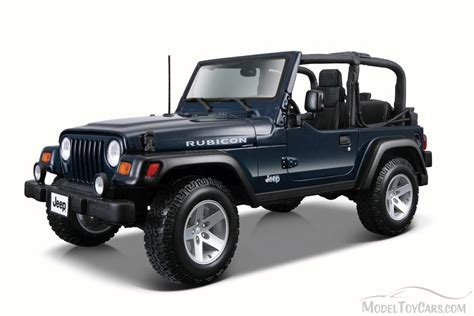 Jeep Wrangler Rubicon Convertible Blue Maisto 31245 1