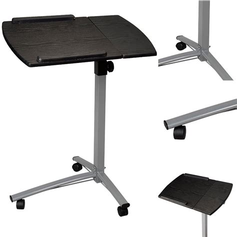 Adjustable Rolling Laptop Desk Adjustable Angle Height Rolling Notebook Laptop Desk Stand Bed Sofa Table