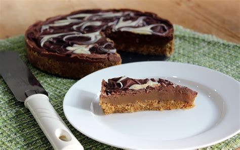 Link Marbled Caramel Chocolate Slices by Marbled Chocolate Caramel Tart2 The Thrifty Squirrels