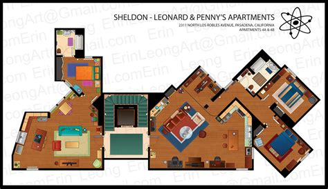 mad men floor plan erin leong illustrated floorplans for the big bang theory