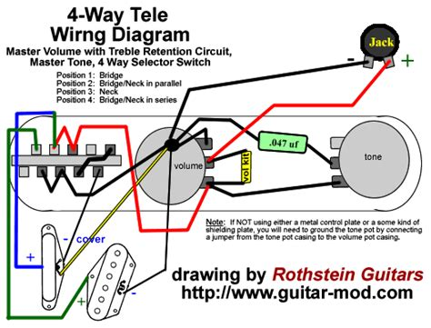 telecaster 4 way switch diagram rothstein guitars serious tone for the serious player