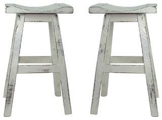 Distressed Saddle Bar Stools by Swivel White Distressed Saddle Seat Bar Stool Set Of 2