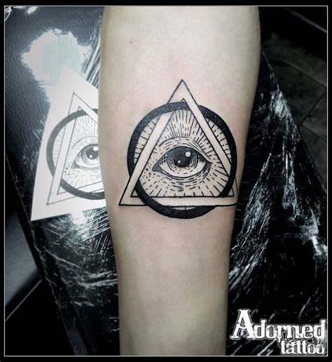all seeing eye wrist tattoo the all seeing eye line work blackwork allseeingeye
