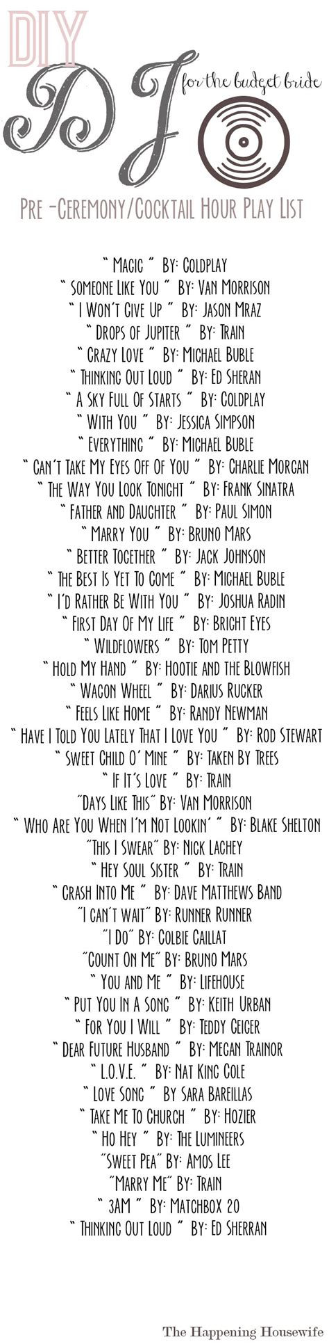 Wedding Songs List by Save Money On A Dj By This Simple Playlist Pre