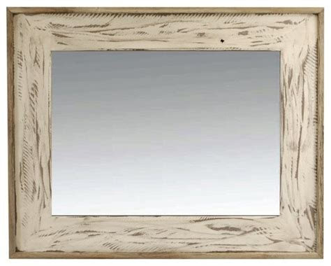 rustic mirror 18x24 rustic denali antique white heavily