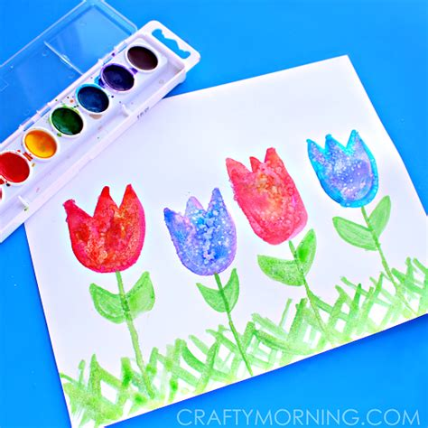 arts and crafts for toddlers for salt for tulips crafty morning