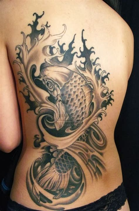 universoparalelo black koi fish tattoos