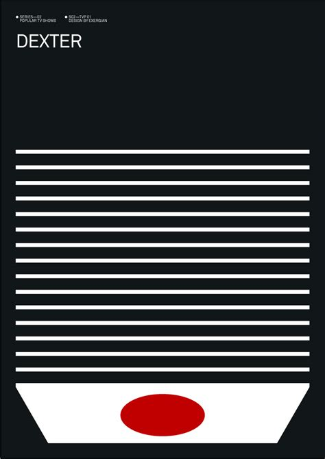 albert exergian s tv show posters are minimal so very awesome