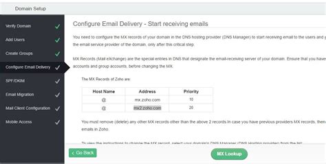 Mx Address Lookup Free Business Email Address Account Using Zoho Mail H2s Media