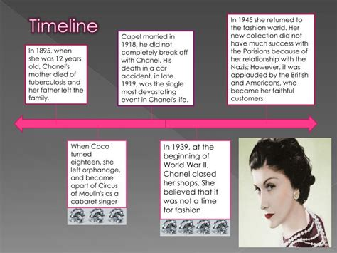 coco chanel biography timeline ppt coco chanel powerpoint presentation id 1615839