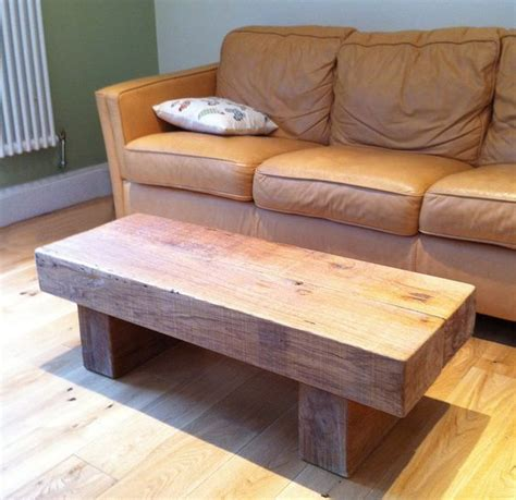 Railway Sleeper Coffee Table Chunky Oak Railway Sleeper Coffee Table 163 295 00 Via Etsy Stuff To Try Pinterest Railway
