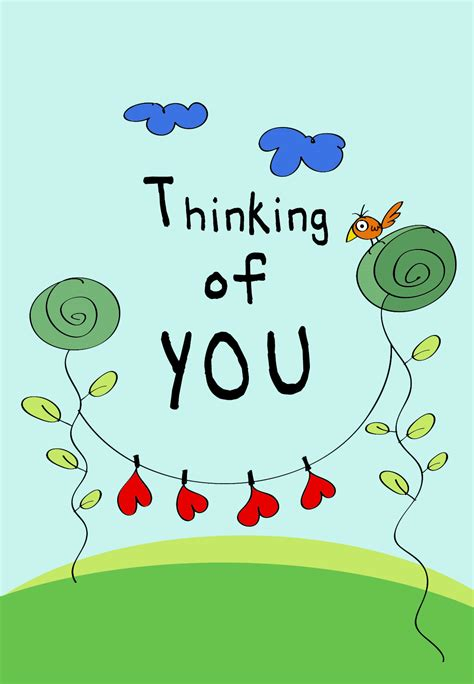 Printable Thinking Of You Cards Free thinking of you free card greetings island