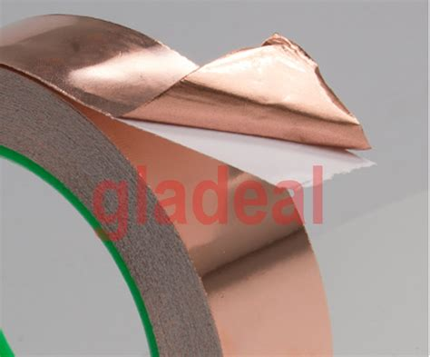 1 Meter 50mm Copper Foil Isolasi So Kode Fd9990 1 50mm 30m 0 06mm industry adhesive electric conduction copper foil emi shielding barrier
