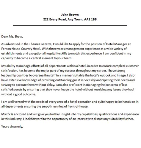Hospitality Cover Letter Examples – Cover Letter For Customer Service Hospitality   Covering