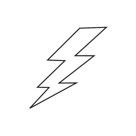 Flash Lightning Bolt Outline by Outline Of Lightning Clipart Best