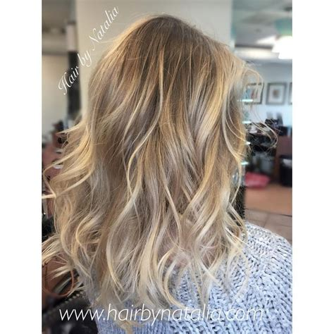 low lights and hi lights beach wave hair hair fairy by platinum blonde balayage highlights with messy beach waves