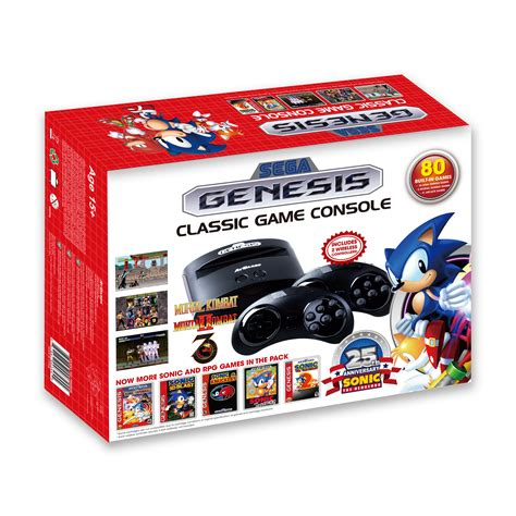 sega genesis classic console with 80 built in sega genesis classic console 2016 the official