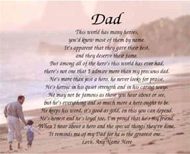 dad my hero personalized poem memory birthday father s day