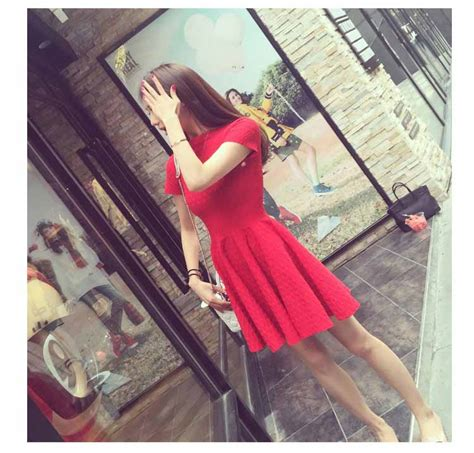 D4314 Dress Import Korea Murah Asli 100 No Replika dress merah import murah toko baju wanita murah goldendragonshop