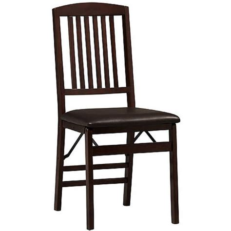 Walmart Chairs by Triena Mission Back Folding Chairs Set Of 2 Espresso