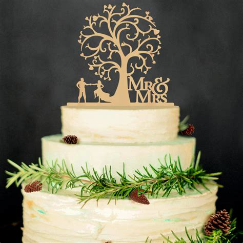 Welding Cake Decorations by Mr Mrs Wedding Cake Toppers Wedding Tree Wood Cake