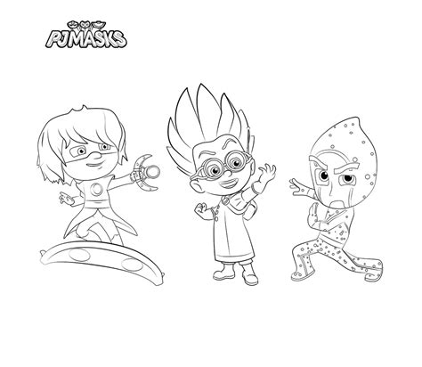 coloring pages pj masks pj masks coloring pages coloring home