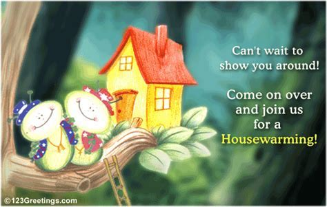 A Housewarming Invitation! Free Celebrations eCards
