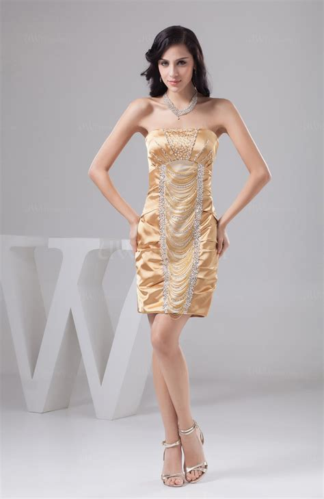 beige unique bridesmaid dress beach sexy sheath tight classy natural   uwdresscom
