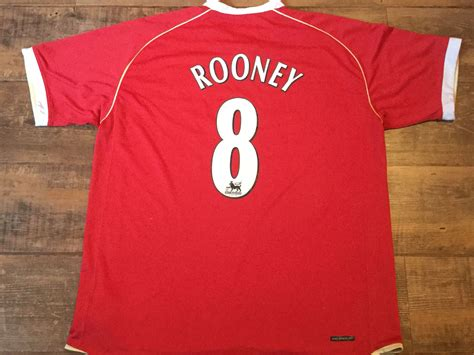 2006 2007 Manchester United Home Original Jersey Size L Ronaldo 7 classic football shirts 2006 manchester united vintage soccer jerseys