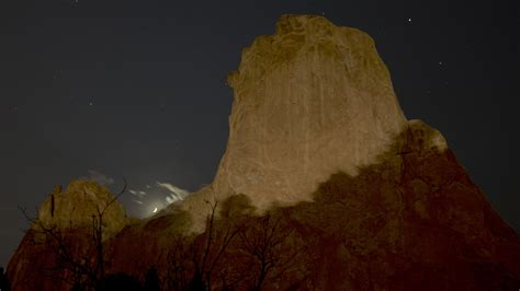 Garden Of The Gods Solar Eclipse 29 Moon During Partial Eclipse Of The Sun 141023 Not So
