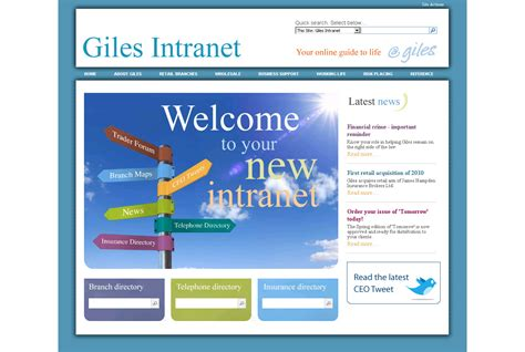 Intranet Exles Intranet Page Template