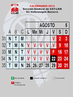 Calendario Definitivo Calendario Definitivo De Julio Cgt Lkn Volkswagen