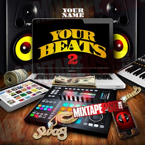 Mixtape Cover Template Your Beats 2 Psd On Behance Mixtape Psd Templates