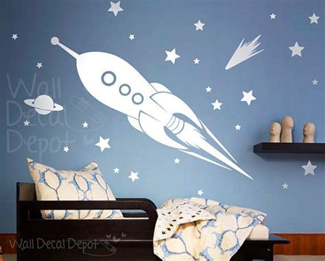 space rocket wall stickers space rocket ship wall decal boy wall decal wall