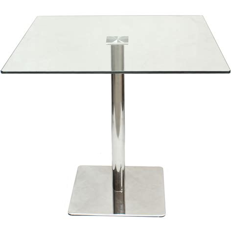 Sale Large Square Clear Glass Dining Table Breakfast Square Glass Dining Table