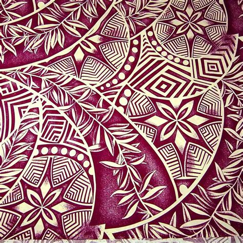 tribal pattern material hawaiian print pacific island tribal tropical leaves