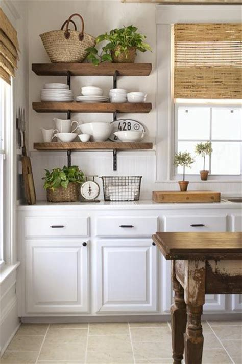 farmhouse kitchen open shelving choices the happy housie
