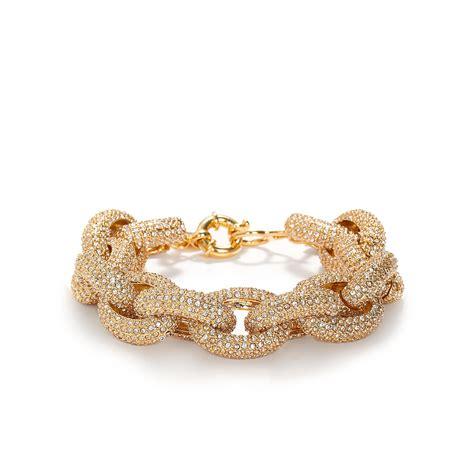 j crew classic pav 233 link bracelet in metallic lyst