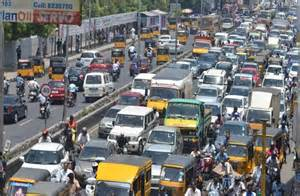 Traffic In Traffic Jam In Chennai Live On India