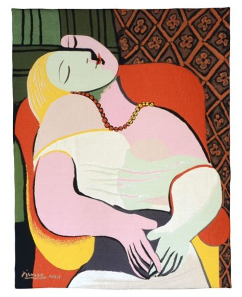 Modern Tapestry Le Reve From Pablo Picasso