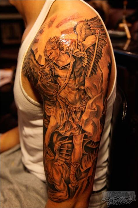 st michael sleeve tattoo designs the world s catalog of ideas