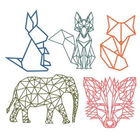 geometric animal cuttable design