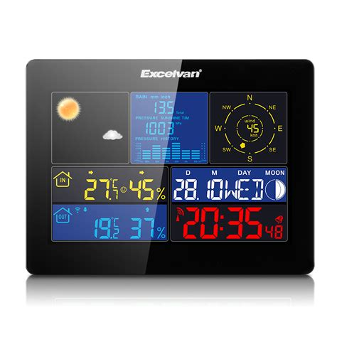 color wireless weather station wind speed