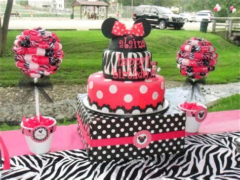 zebra print themed birthday party minnie mouse and zebra print birthday party ideas photo