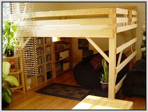 queen size loft bed  desk full size loft beds
