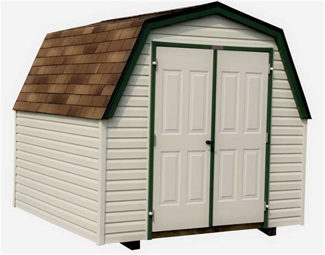 Vinyl Sided Sheds by Vinyl Siding Barn Style 4 Sidewall Sheds Sheds By