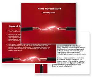powered templates electric spark powerpoint template 06858 images frompo
